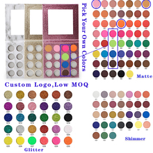 Eyeshadow-Palette Private-Label Shimmer Glitter Matte Customized 122-Colors Logo DIY