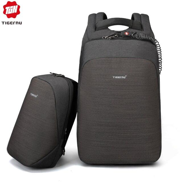 Tigernu Anti theft fashion men backpack bag set