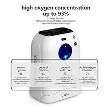Concentrateur d'oxygène 1-7l, générateur d'oxygène, machine de fabrication d'oxygène, soins, langue d'affichage, anglais, 110v/220v