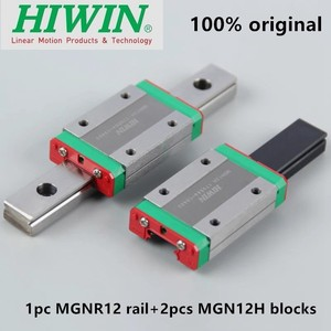 1pc Original Hiwin guía lineal MGN12 100, 150, 200, 250, 300, 330, 350, 400, 450, 500, 550 mm MGNR12 carril + 2 uds MGN12H bloques CNC