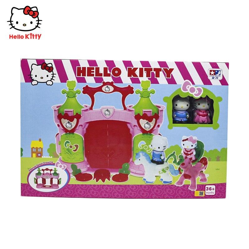 HelloKitty Dear Daniel Fun Palace Play Set Kids Pretend Play Hellokitty House Doll Toy Children Birthday Gifts Hellokitty
