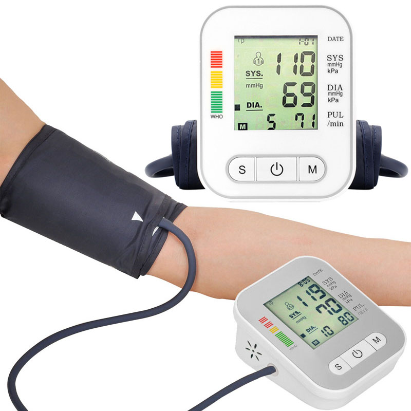 Meter-Machine Tonometer Arm-Measure Blood-Pressure-Monitor Heartbeat-Test Pulse Smart-Arm