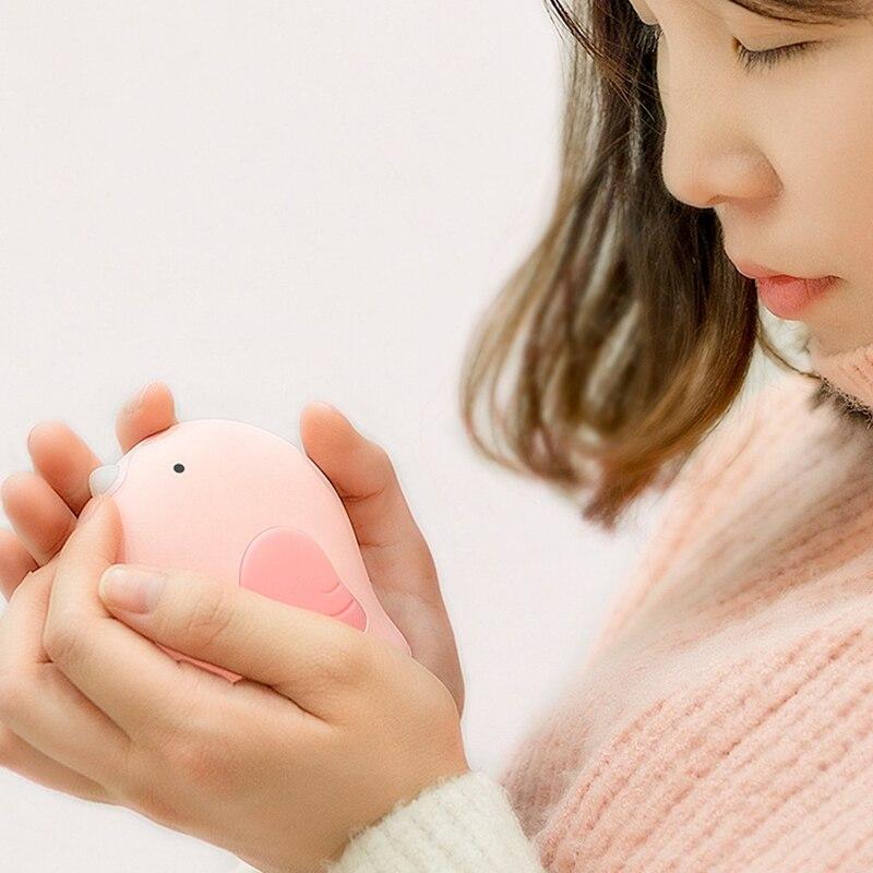 HOT SALE Warm Heart Bird Heater Hand Warmer Electric Heating Film USB Mobile Power Charging Treasure Mini Warm Mobile Phone Hand