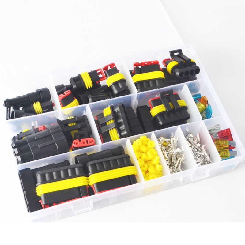 216 pièces/boîte connecteur de fil automobile étanche 1-6P avec fusible équipement électrique femelle mâle manière AMP Super joint