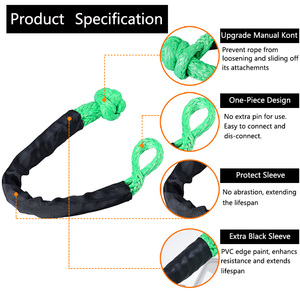 Image 2 - Synthetic Soft Shackle Rope Winch Towing Rope 38,000 lbs Breaking for 4x4 suv atv truck pickup recovery offroad