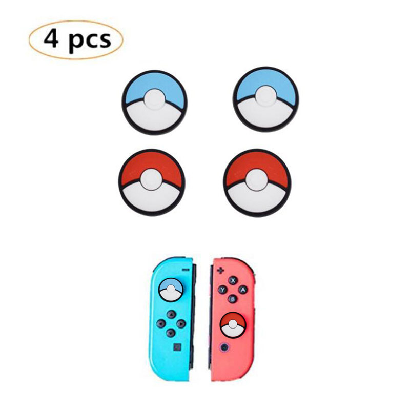 Silicone Thumb Stick Grip Caps Joypad Analog Joystick Cover Case For Nintend Switch Lite NS Mini Controllers Joy-Con ThumbStick(China)