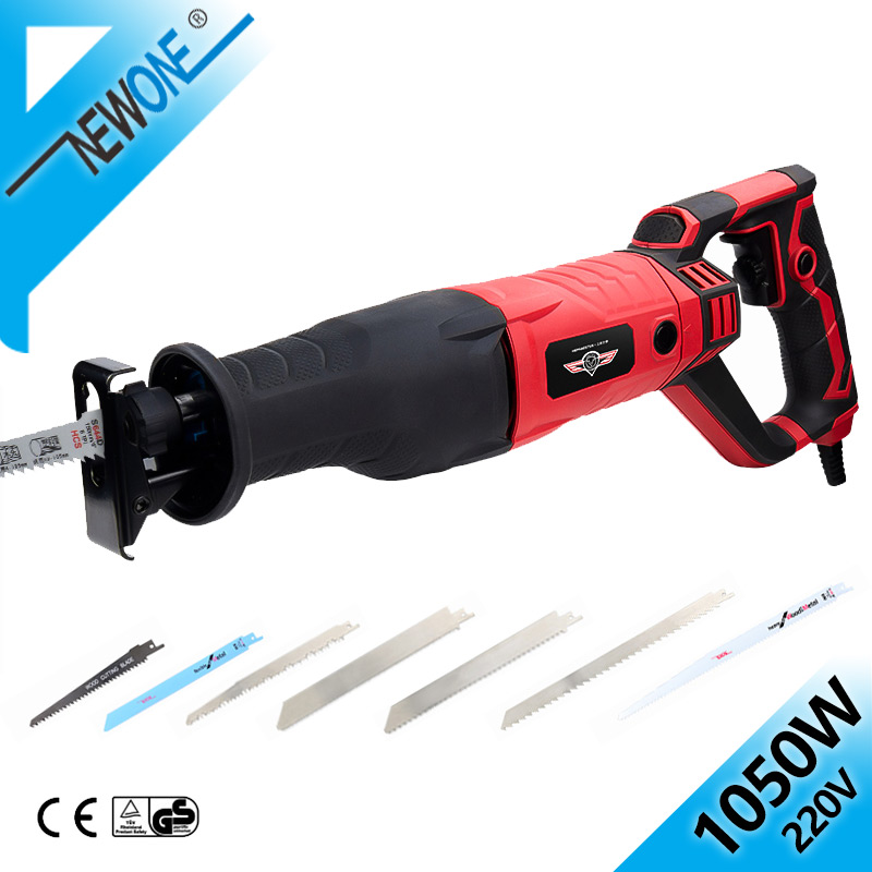 HEPHAESTUS 220V Reciprocating saw in Electric Saw Blades 1050W AC Mulit Saber Saw Power Tool For Wood/ Metal Woodworking Cutter