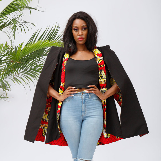 African Clothes for Women Fashion Jacket Reversible Wear Jacket Wax Print 100% Cotton Blazer Traditional Print Jacket