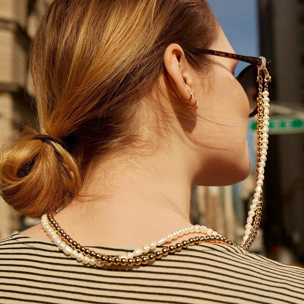 Fashion Beaded Glasses Chains For Women Handmade Link Chains For Sunglasses Simulated Pearl Eyeglasses Chain Holiday Gifts New