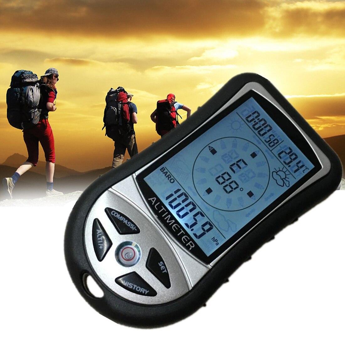 Гид 8 в 1 ЖК-цифровой альтиметр барометр, термометр, история погоды, часы, календарь-Компас для пеших прогулок и охоты