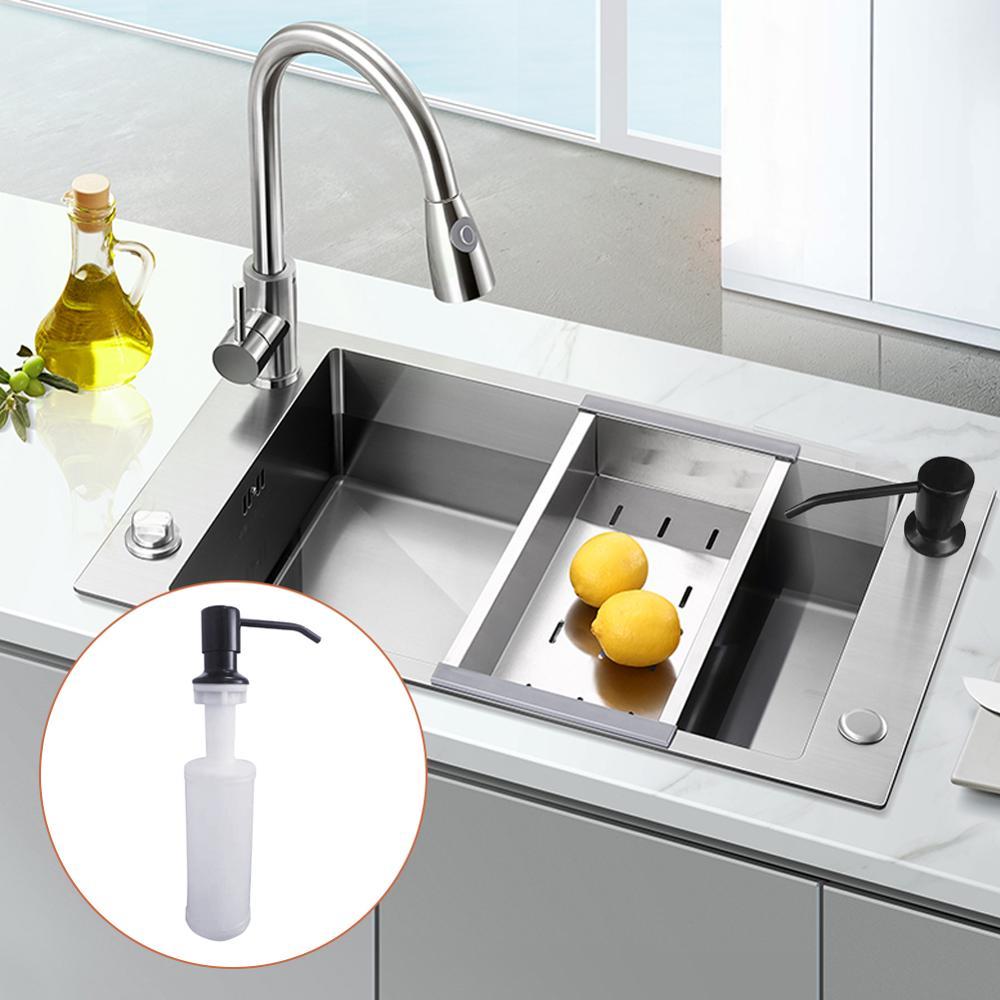 Раковина мыло дозатор жидкость мыло бутылка вручную нажатие мыло лосьон дозатор кухня аксессуары 300 мл