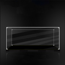 S-class Glue Free Clear Acrylic Display Case Black Base Dustproof Protection Model Toy Show Box