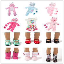 цена Baby New Born Fit 18 inch 43cm Doll Clothes Accessories Doll Shoes For Baby BirthdayGift онлайн в 2017 году