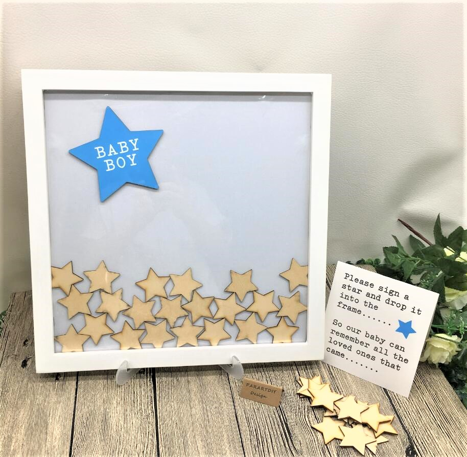 Christening  Message Guest Book BABY IN PRAM Personalised Baby Shower