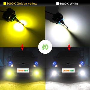 Image 3 - CNSUNNYLIGHT Long Life LED H11 H8 Car Headlight Fanless 3600Lm/Bulb 9005 HB3 9006 HB4 White Yellow Light Foglamp Car Accessories