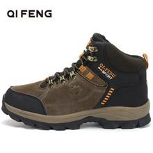 Botines de senderismo para deportes al aire libre, de cuero genuino, de gran oferta, calzado clásico de Trekking para invierno, calzado para escalar