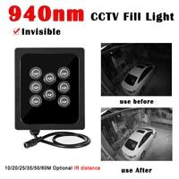 8 Uds conjunto Led por IR CCTV llenar de luz 940nm iluminador infrarrojos al aire libre lámpara impermeable noche visión para cámara de vigilancia