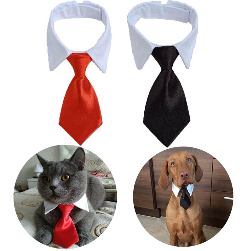 Pet Dog Cat Formal Necktie Tuxedo Bow Tie Black /Red Tie For Small Medium Dog & Cat Pet Accessories Puppy Holiday Party  Gift