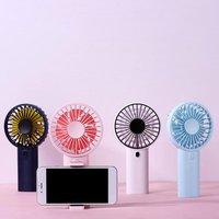 F02 mini ventilador de verão ventilador handheld elétrico nordic estilo fresco suporte do telefone walking carryable cooler