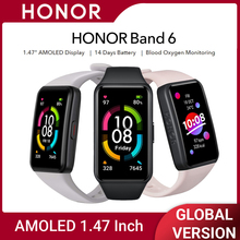 """Honor Band 6 Smartwatch, 1.47 """"Amoled Display,14 Dagen Batterij Leven Smart Horloge, hartslagmeter, Fitness Sleep Tracker"""