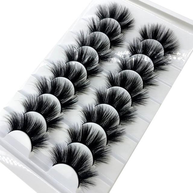 HBZGTLAD New 8 pairs 15-23mm natural 3D false eyelashes fake lashes makeup kit Mink Lashes extension mink eyelashes maquiagem 6