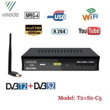 Europa Rusland Full Hd Digitale Dvb T2 S2 Combo Satelliet Tv Ontvanger Ondersteuning Youtube M3U Iks Biss Tv Tuner Set top Dozen Met Wif