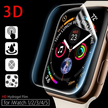 Hydrogel Protective Film for Apple Watch 5 4 3 2 1 44mm 40mm 42mm 38mm Screen Protector for iWatch 5 4 3 2 1(Not Glass)Film Foil цена 2017