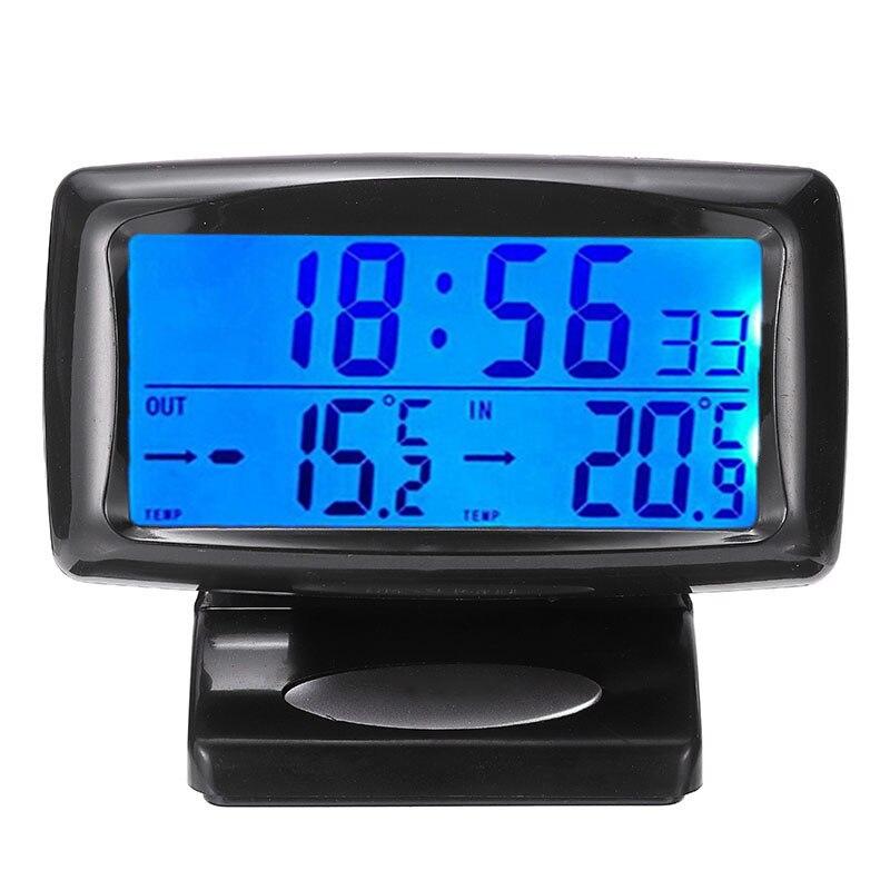 JICHUIO Thermom/ètre de Voiture Ornements de Voiture Affichage LCD Horloge num/érique indicateur de temp/érature de Style de Voiture pour r/éfrig/érateur de r/éservoir de Poissons