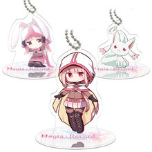 Height 9cm Puella Magi Madoka Magica Anime Action Figure Toy Acrylic Keychain Decorative Ornaments(China)