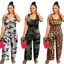 Women's Fashion Rompers Long Jumpsuits 2020 Summer Sleeveles