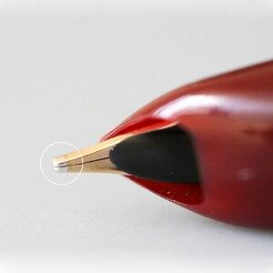 Image 3 - Haute qualité luxe HERO 100 stylo plume coffret cadeau classique calligraphie 14K or encre stylo école bureau écriture fournitures