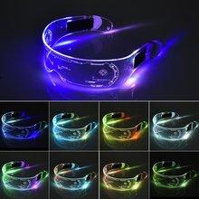 Светодиодный светящиеся очки футуристические электронные козырек
