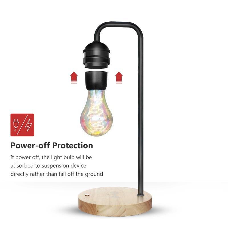 Magnetic Levitation Lamp Desk Floating Bulb for Christmas Gift Decor magnet levitation Night Light Wireless Charger for Phone - 5