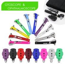 Светодиодный волоконно оптический прямой Otoscope офтальмоскоп набор для ухода за ушами эндоскоп ЛОР Диагностический комплект