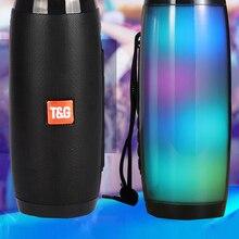 Portable Speaker Led-Light Bass Tf-Fm-Radio High-Boombox Outdoor Wireless Powerful HIFI