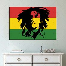 Modular Picture Bob Marley Pop Singer Posters and Prints Wall Art 1 Piece Colorful Canvas Painting Home Decor for Living Room(China)