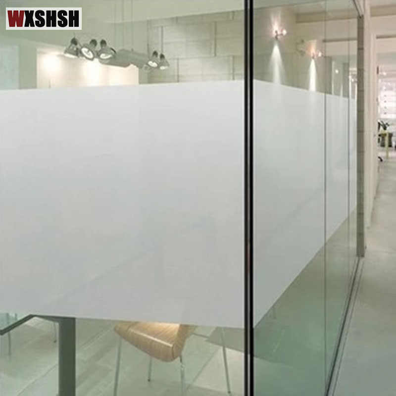 3m Frosted Glass Sticker No Glue Window Film Privacy For Office Bathroom Bedroom Shop Static Cling Diy Decorative Film Raamfolie Decorative Films Aliexpress