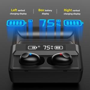 Image 3 - DACOM T8 casque sans fil basse Bluetooth 5.0 écouteur étanche Mini vrai Tws écouteurs avec batterie externe LED affichage PK i12 tws