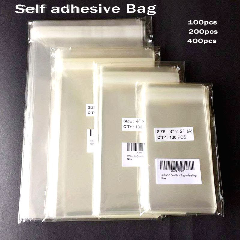 100PCS Clear Self-adhesive Cello Cellophane Bag Self Sealing Small Plastic Bags For Candy Packing  Cookie Packaging Bag Pouch