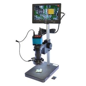 HAYEAR 14MP USB цифровой индустрии Full HD микроскоп Камера 100X Зун C-mount объектив 4 Гб TF карты + 7 дюймов ЖК-дисплей монитор штепсельная вилка европейско...