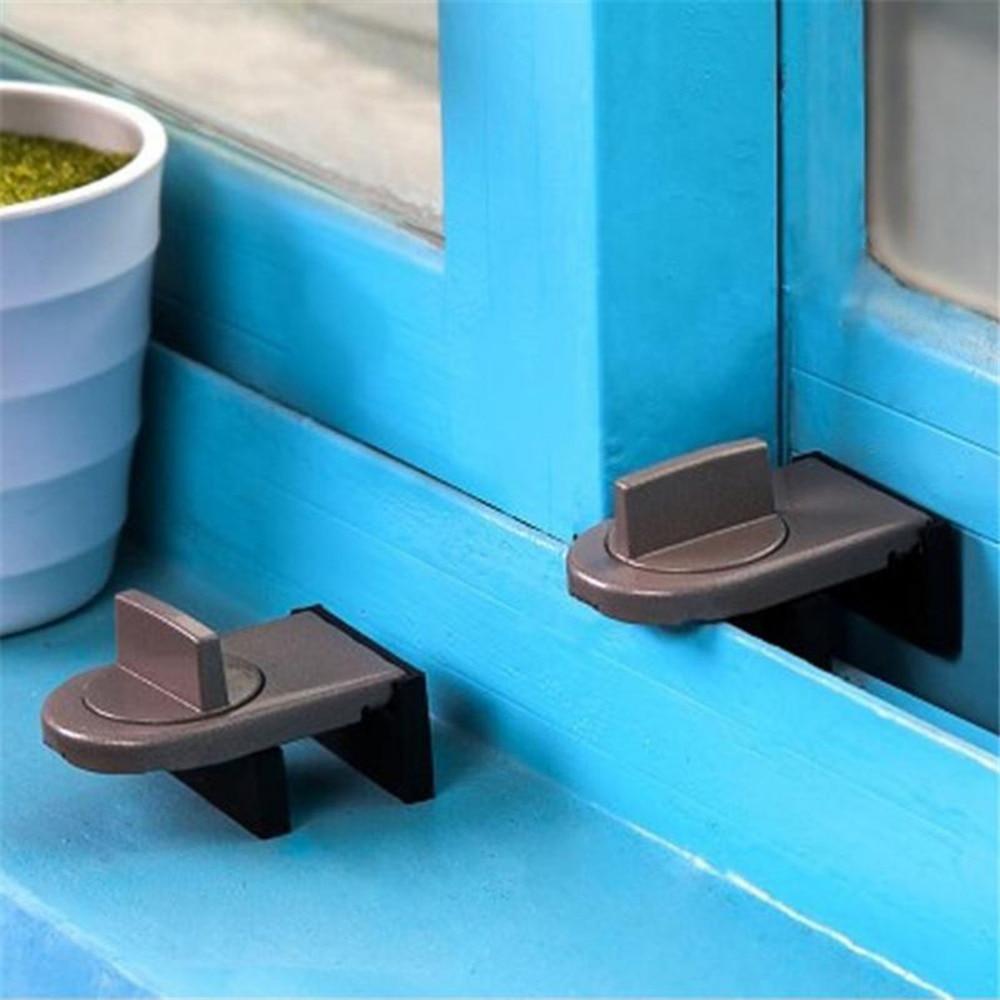 Anti-theft Lock Sliding Sash Stopper Window Sliding Door Baby Safety Lock Doors Security Cabinet Locks & Straps New Arrival