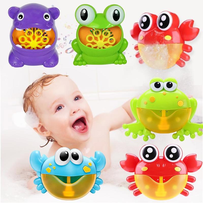 Baby Bath Toy Bubble Crabs Funny Music Bath Bubble Maker Pool Swimming Bowl Baby Fun Toy Happy Bathtub Bubble Machine 19 Color