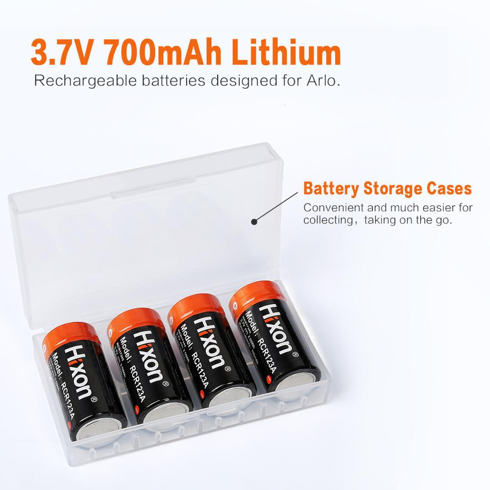 Image 4 - 4pcs UL&FCC Certified 700mAh RCR123A rechargeable protected batteries for Netgear Arlo HD Cameras and Reolink Lithium ionbattery forbattery battery batteryrechargeable battery - AliExpress