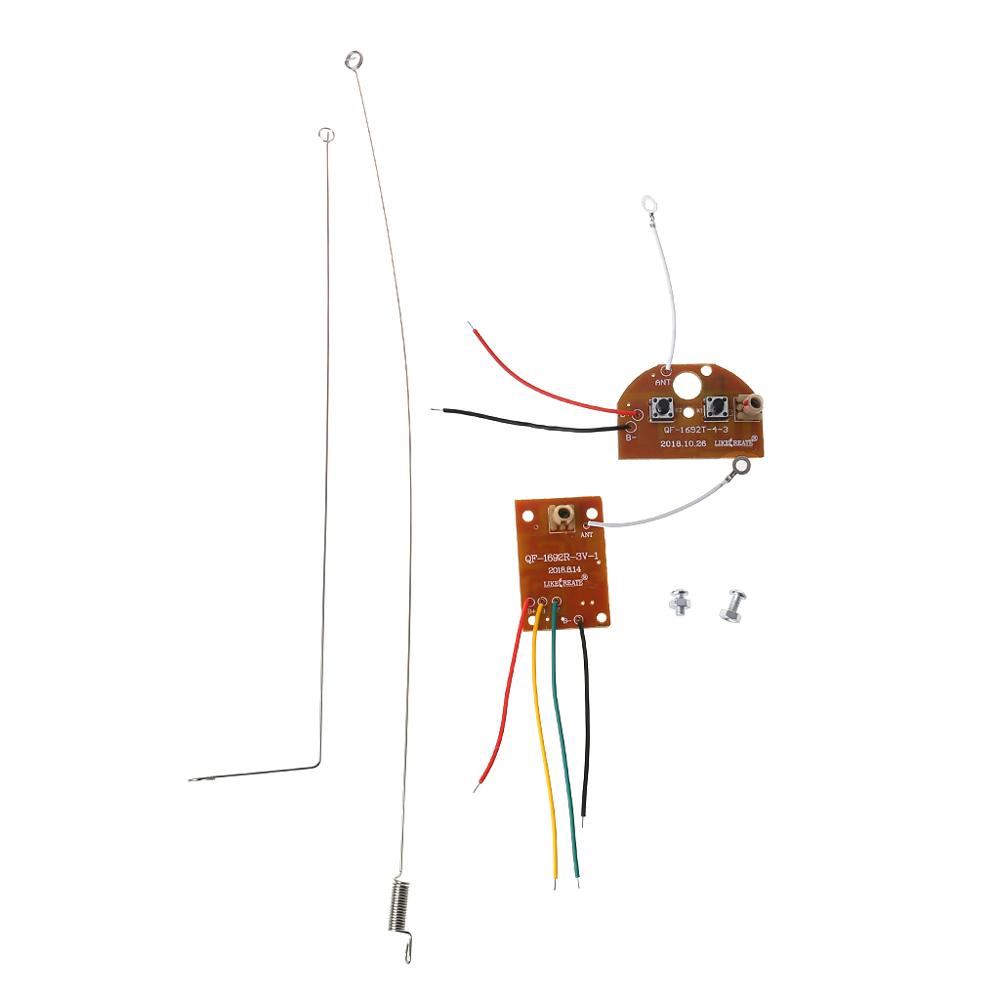 2CH RC Remote Control 27MHz Circuit PCB Transmitter and Receiver Board Radio System with Antenna Set for Car Truck Toy
