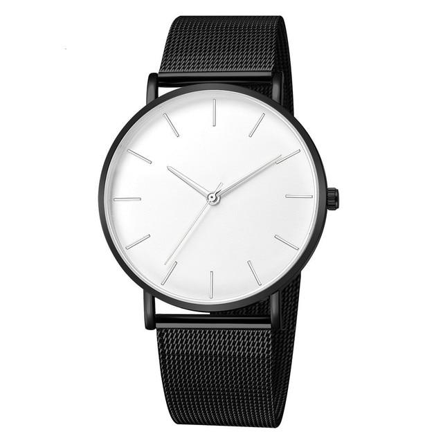 Luxury Mesh Ultra-thin Stainless Steel Quartz Wrist Watch Free Shipping 2