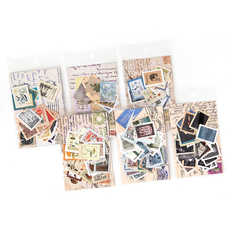 46pcs/pack Plants Vintage Sticker Decorative Stamp Stickers For Scrapbooking Envelopes Journal Diary Planner