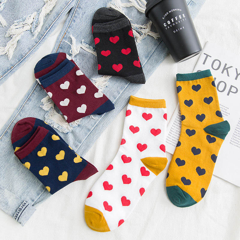 Harajuku Solid Women Socks Lovely Dot Style Casual Women Sox Fashion Korean Version Socks 17 Colors For Choose