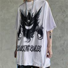 Hip Hop Pokemon Tshirt Streetwear Men Casual High Street Shirts White Summer Cartoon T Shirt Fashion Cool Japan Tshirt Male