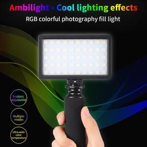 Image 2 - الترا برايت ديامابل RGB LED الفيديو الضوئي ملء ضوء 3200 K 5600 K DSLR التصوير الإضاءة مع ترايبود صغير الهاتف جبل عدة