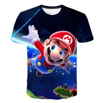 Classic Cartoon Mario 3D t-shirt 2020 New Harajuku style Classic game Mario Bros kids clothes Mario boys clothes Street t-shirt рубашка mario machardi mario machardi mp002xm246yl